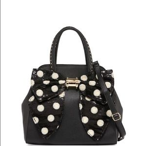 Betsey Johnson Oh Bow Sequined Polka Dot Satchel